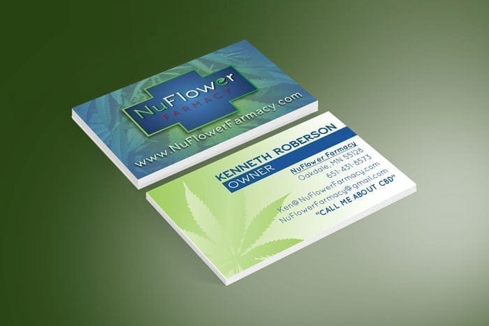 NuFlower Farmacy Business Card Design