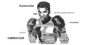 Muhammad Ali Typographic Poster