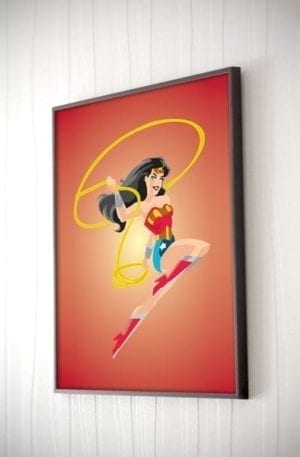 Wonder Woman Poster - Framed
