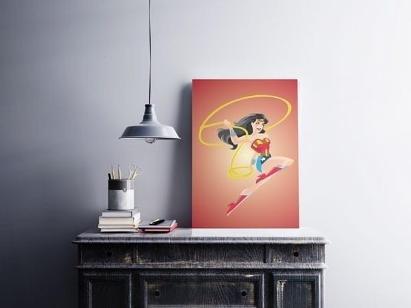 Wonder Woman Poster - Mounted