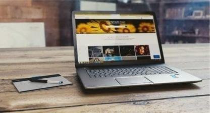 laptop showing basic website example