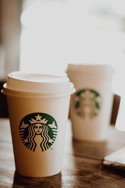 starbucks logo on cups