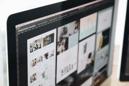 Desktop computer showing blog example