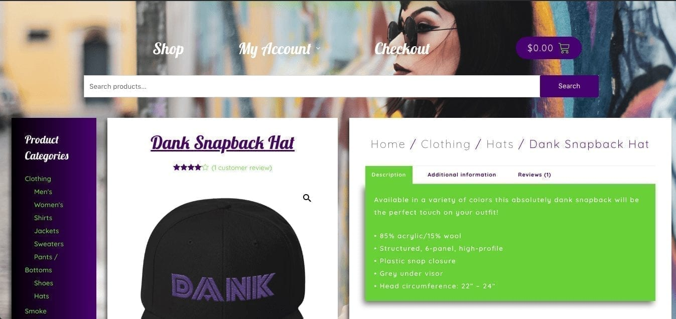 Dank Styles Website Screenshot